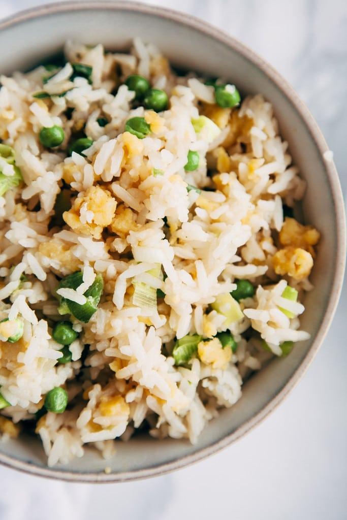 Vegan Egg Fried Rice (Gluten Free, Low Fat)