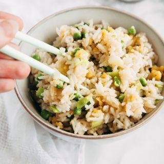 Vegan Egg Fried Rice (Gluten Free, Low Fat) 3