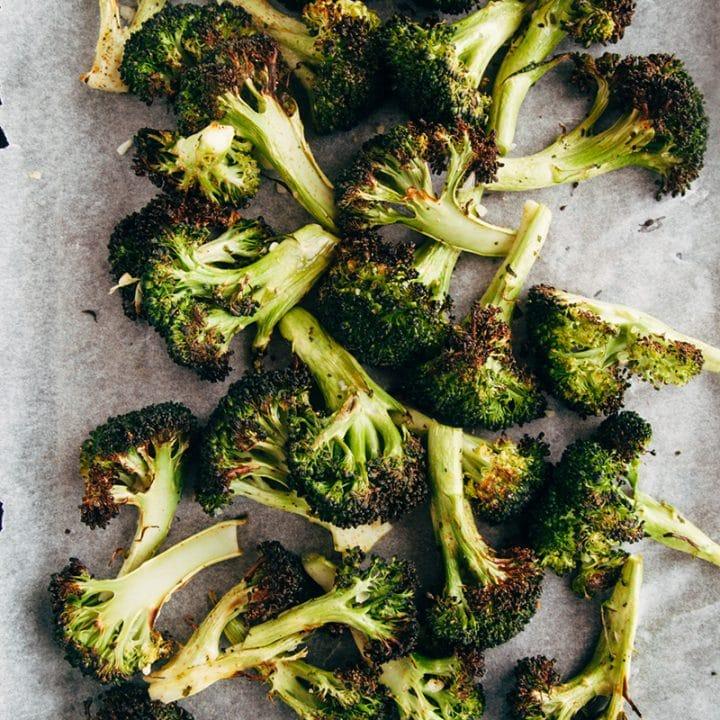 Crispy Garlic Roasted Broccoli