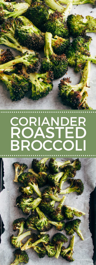 Coriander Roasted Broccoli #lowfat #healthy #vegan #glutenfree