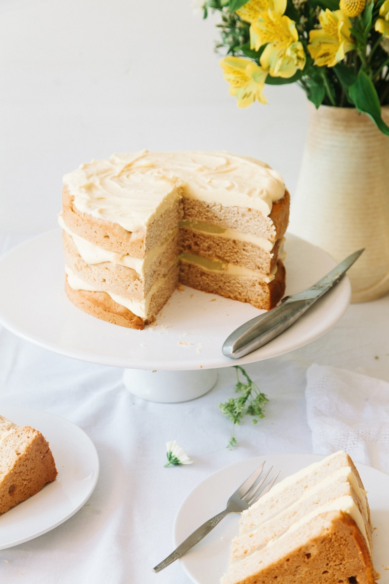 Vegan Elderflower Cake With Lemon Curd Amp White Chocolate