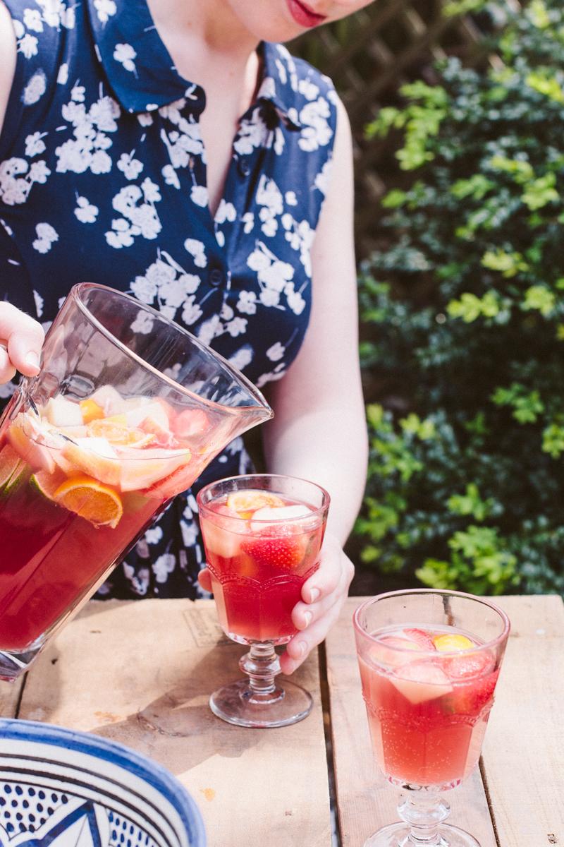 Mock Sangria! A non-alcoholic fruit punch