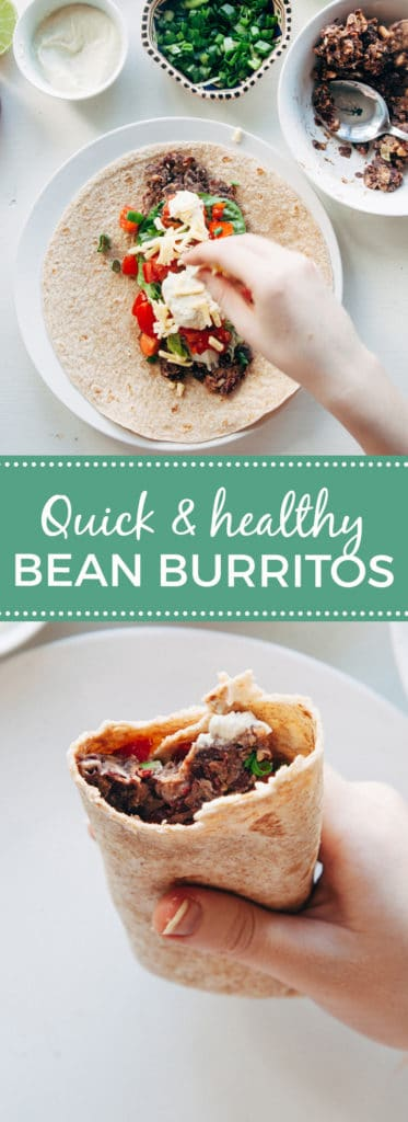 Quick & Healthy Bean Burritos