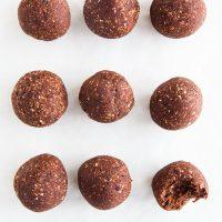 Raw Chocolate Brownie Bites (Nut-free)
