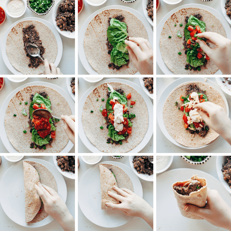 Burrito Step by Step