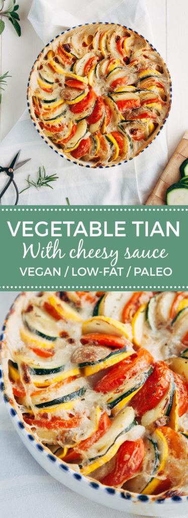Vegetable Tian with Cheeze Sauce (Vegan)