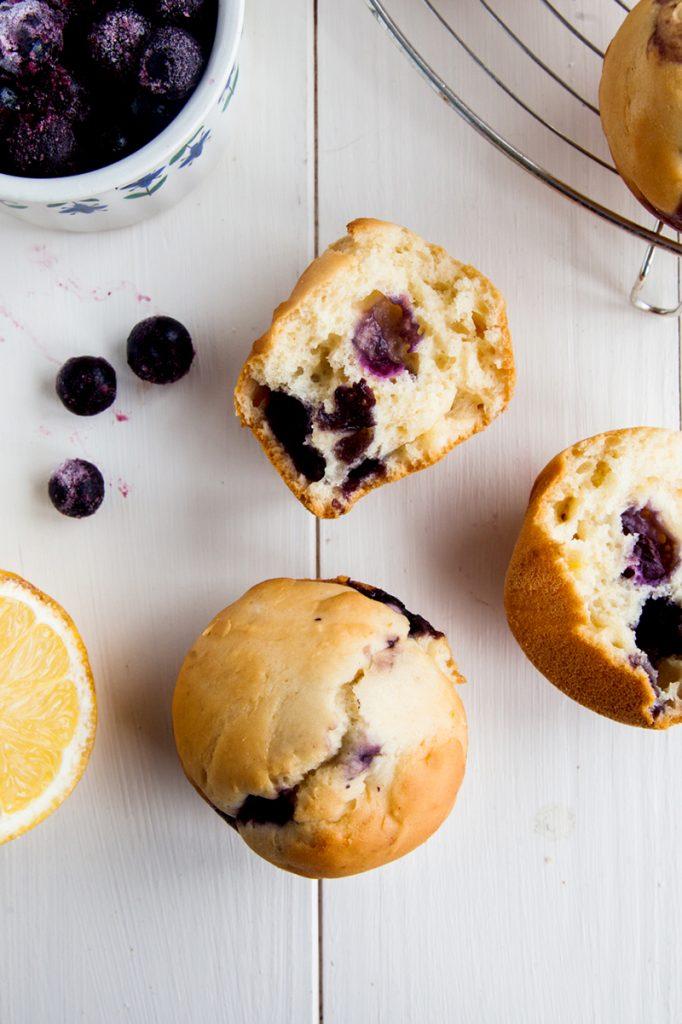 Berry Cake Mix Muffins