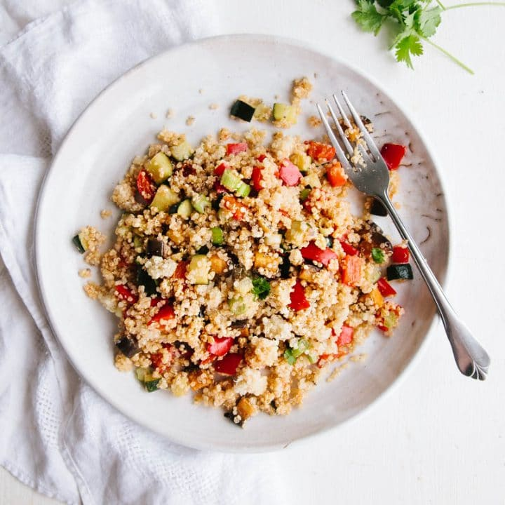 Roast Vegetable Quinoa Salad (Vegan + GF)