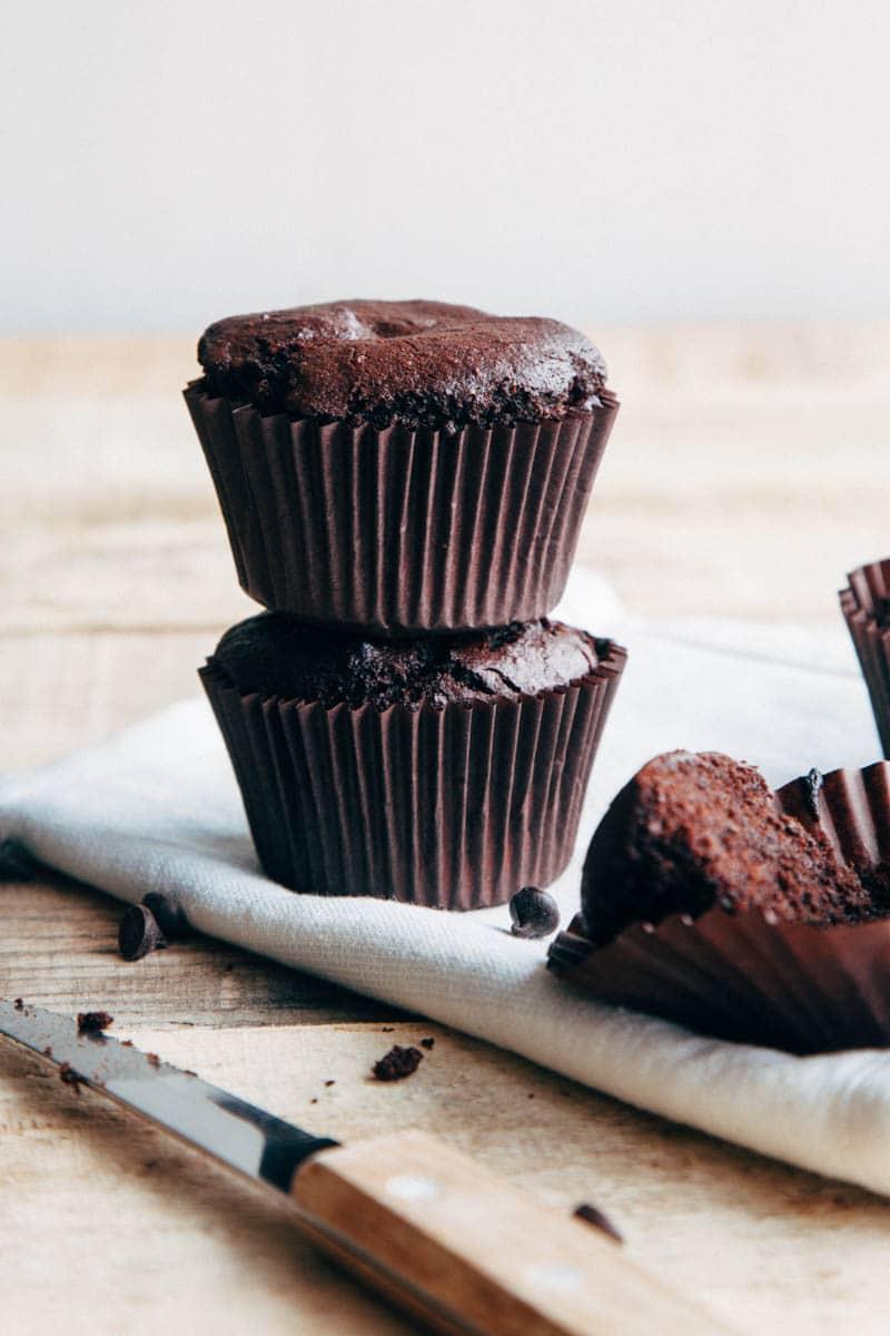Double Chocolate Buckwheat Muffins (Vegan + Gluten-free)