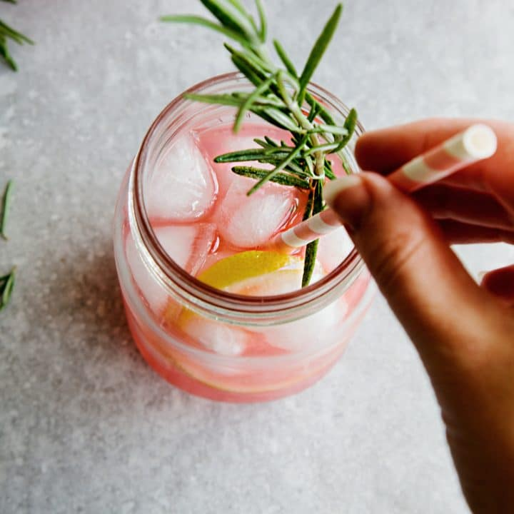 Grapefruit & Rosemary Gin Cocktail