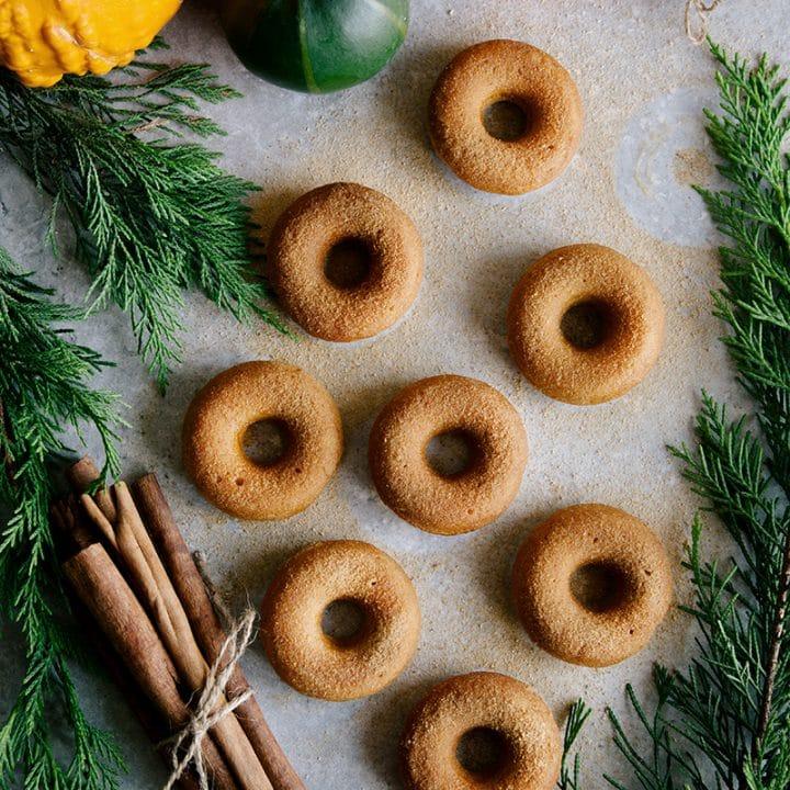 Mini Pumpkin & Cinnamon Sugar Donuts (Vegan)