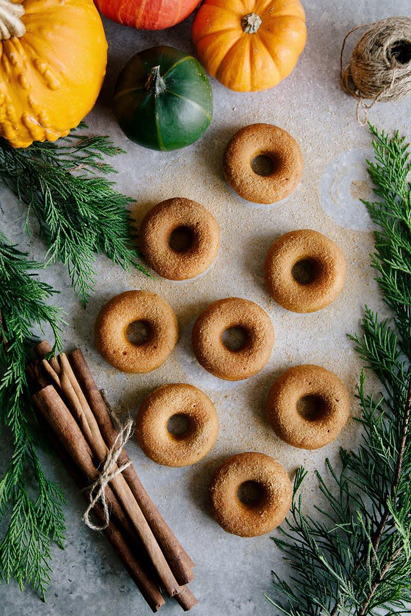 Mini Pumpkin & Cinnamon Sugar Donuts