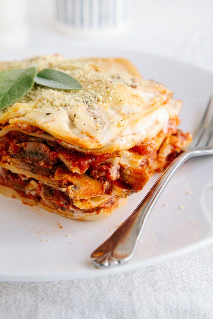 Vegan Mushroom Lasagna (Gluten-free)