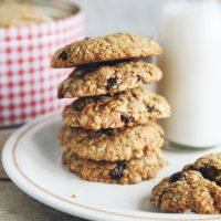 Spiced Orange Oatmeal Raisin Cookies