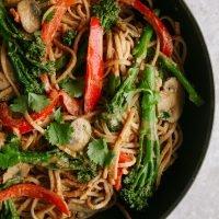 Spicy Tenderstem & Peanut Noodle Stir Fry