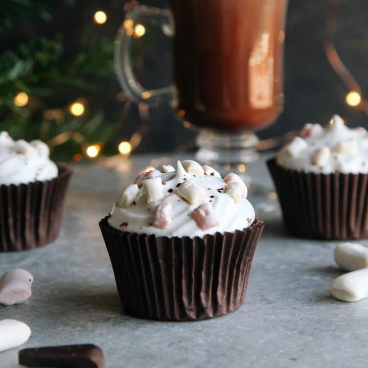 Hot Chocolate Cupcakes (Vegan)