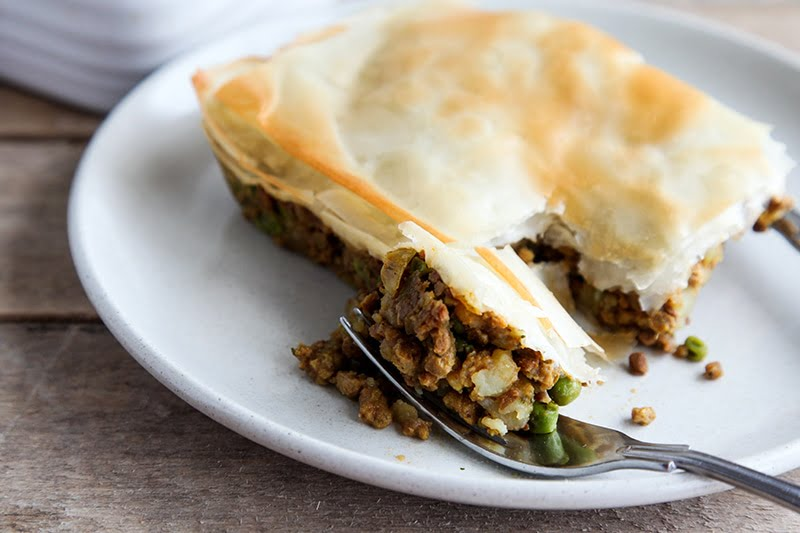 Easy Vegan Samosa Pie