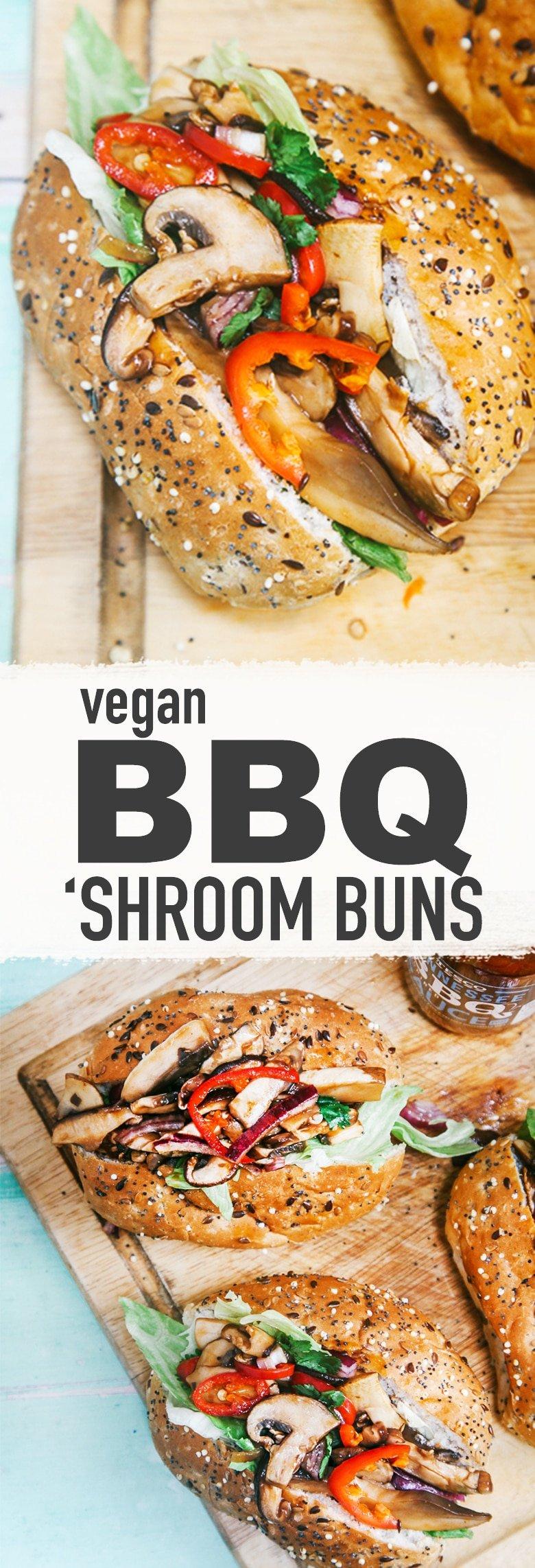 BBQ 'Shroom Buns (Vegan)