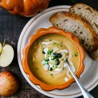 Pumpkin, Apple & Ginger Soup
