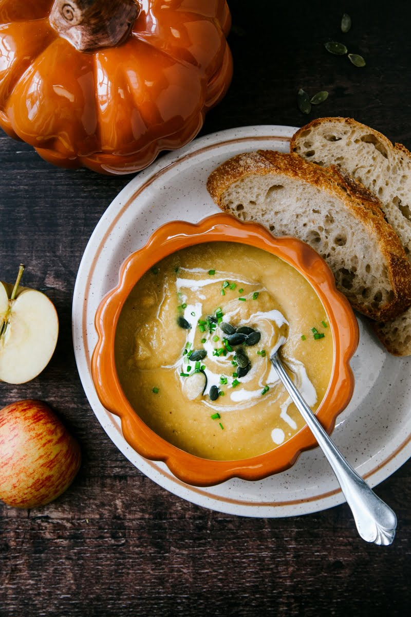 Pumpkin Apple Soup with Ginger