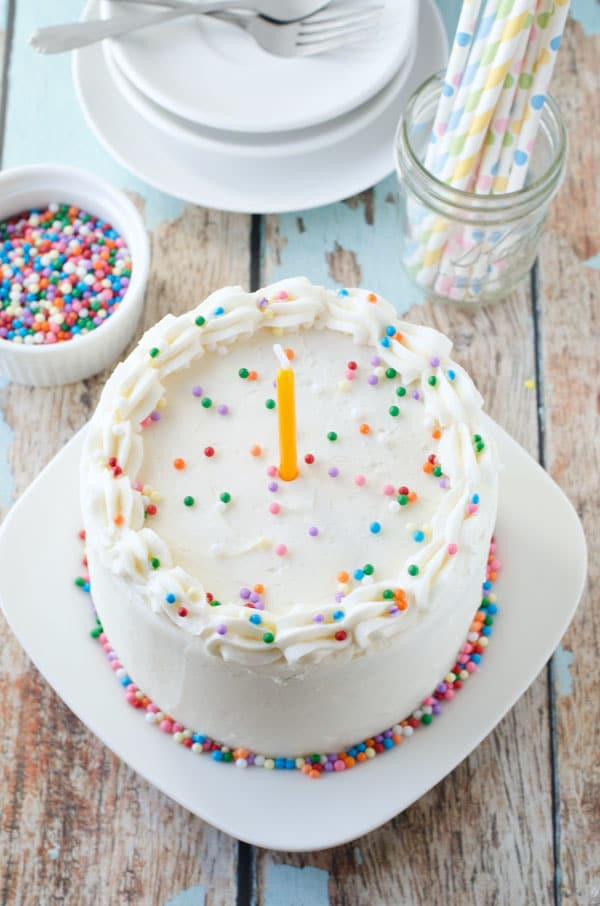 Vegan Vanilla Birthday Cake