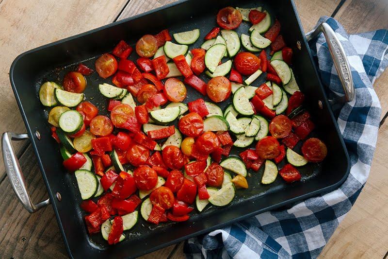 Tomato & Roasted Mediterranean Vegetable Risotto