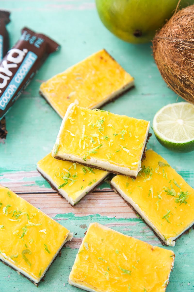 Nakd Mango Cheesecake Bars (Vegan + GF)