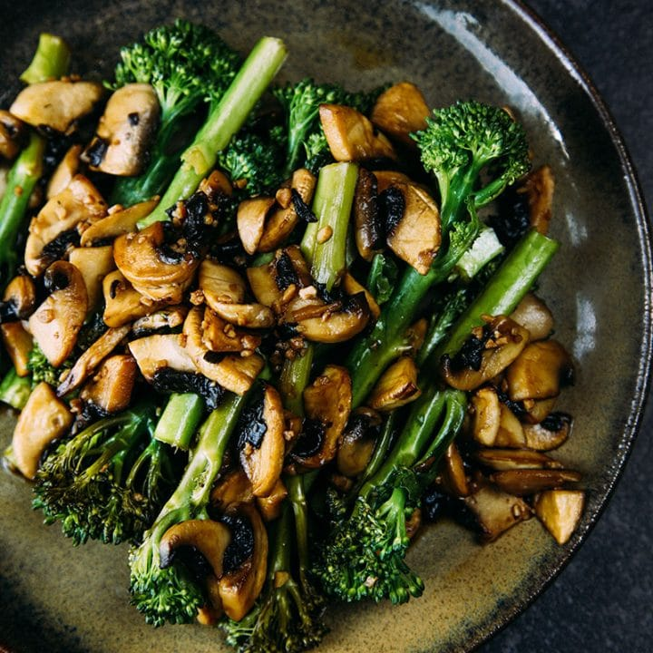 Sautéed Tenderstem® with Garlic Balsamic Mushrooms