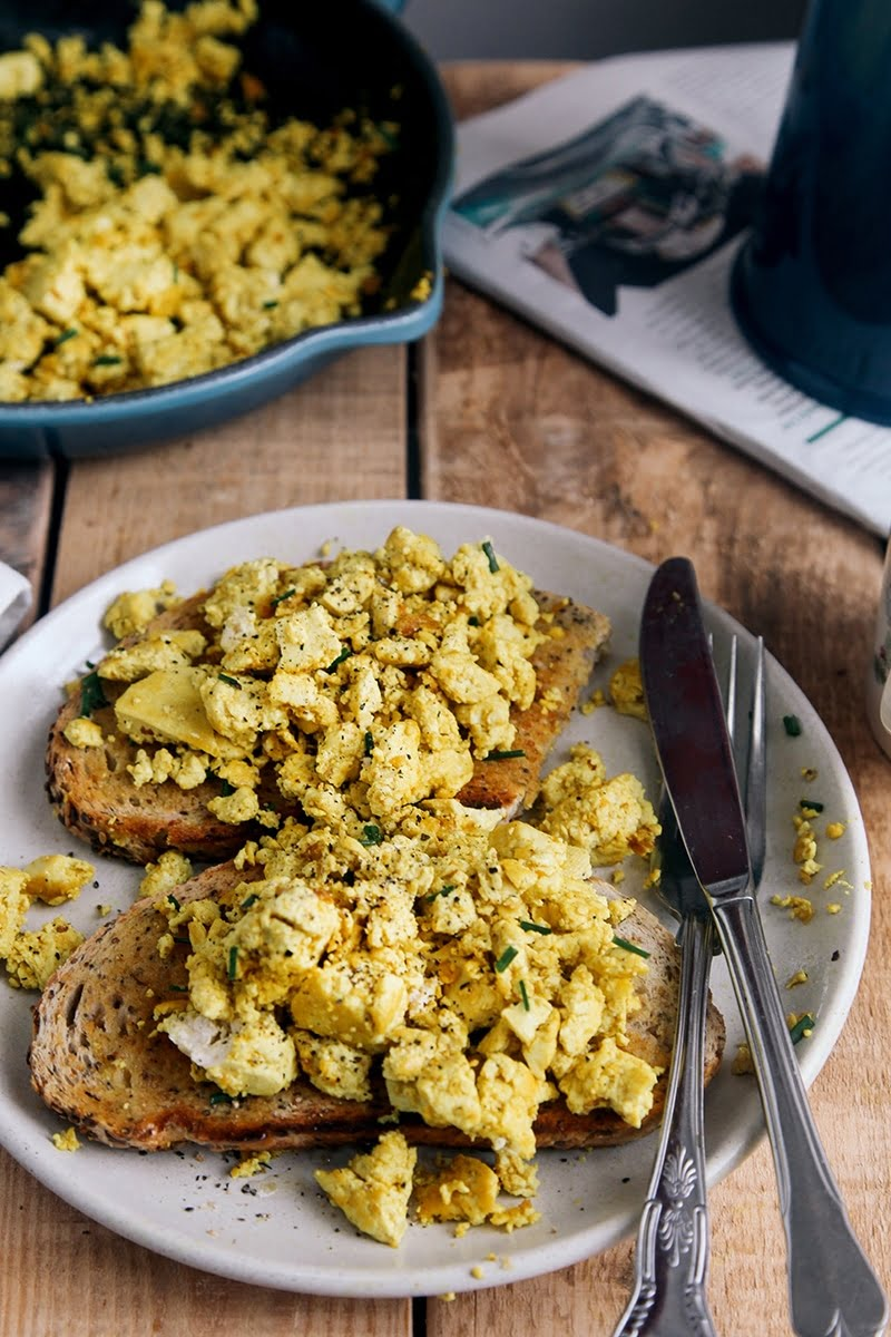 Tofu Breakfast Scramble Vegan Vegetarian Glutenfree Grainfree