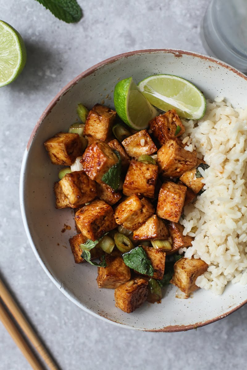Sweet & Spicy Tofu #vegan #vegetarian