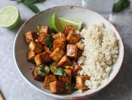 Sweet & Spicy Tofu #vegan #vegetarian