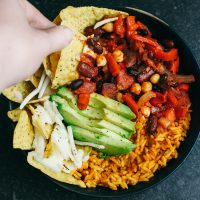 Vegan Chilli Cheese Nachos