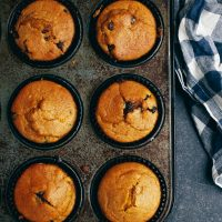 Pumpkin Chocolate Chip Muffins (Vegan)