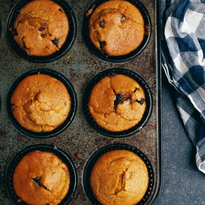 Pumpkin Chocolate Chip Muffins Vegan