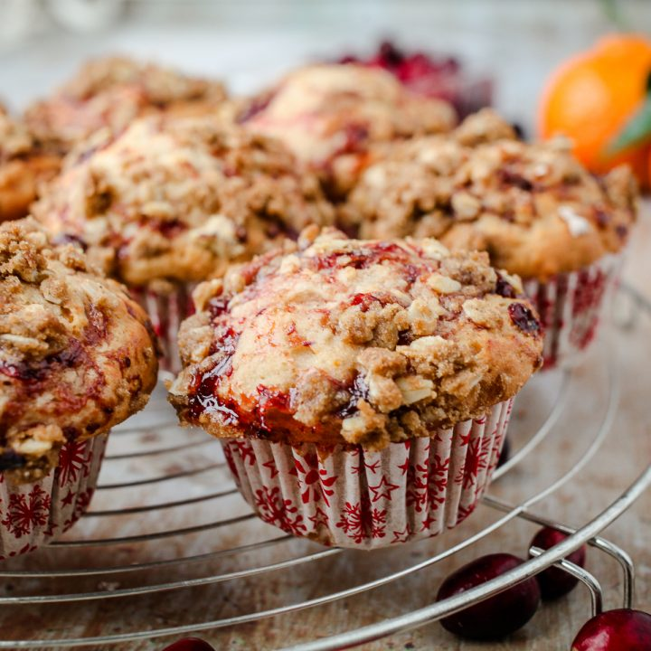 Vegan Cranberry & Orange Muffins