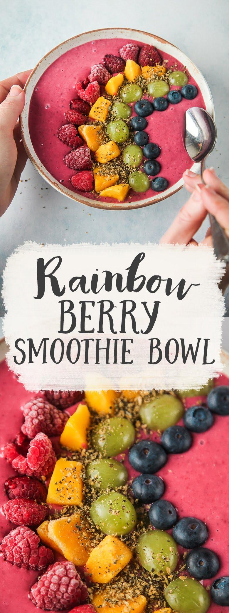 Rainbow Berry Smoothie Bowl