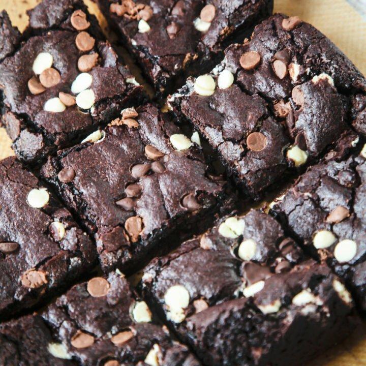 Vegan Guinness Triple Chocolate Brownies