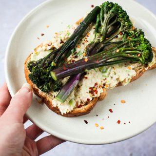 Tenderestem® Toasts with Bean & Leek Mash