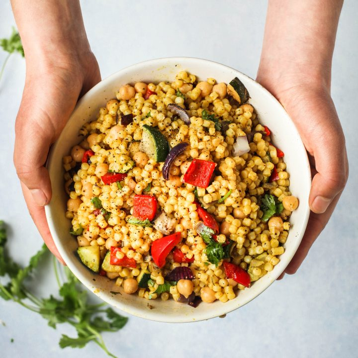 Garlic & Turmeric Giant Couscous with Vegetables
