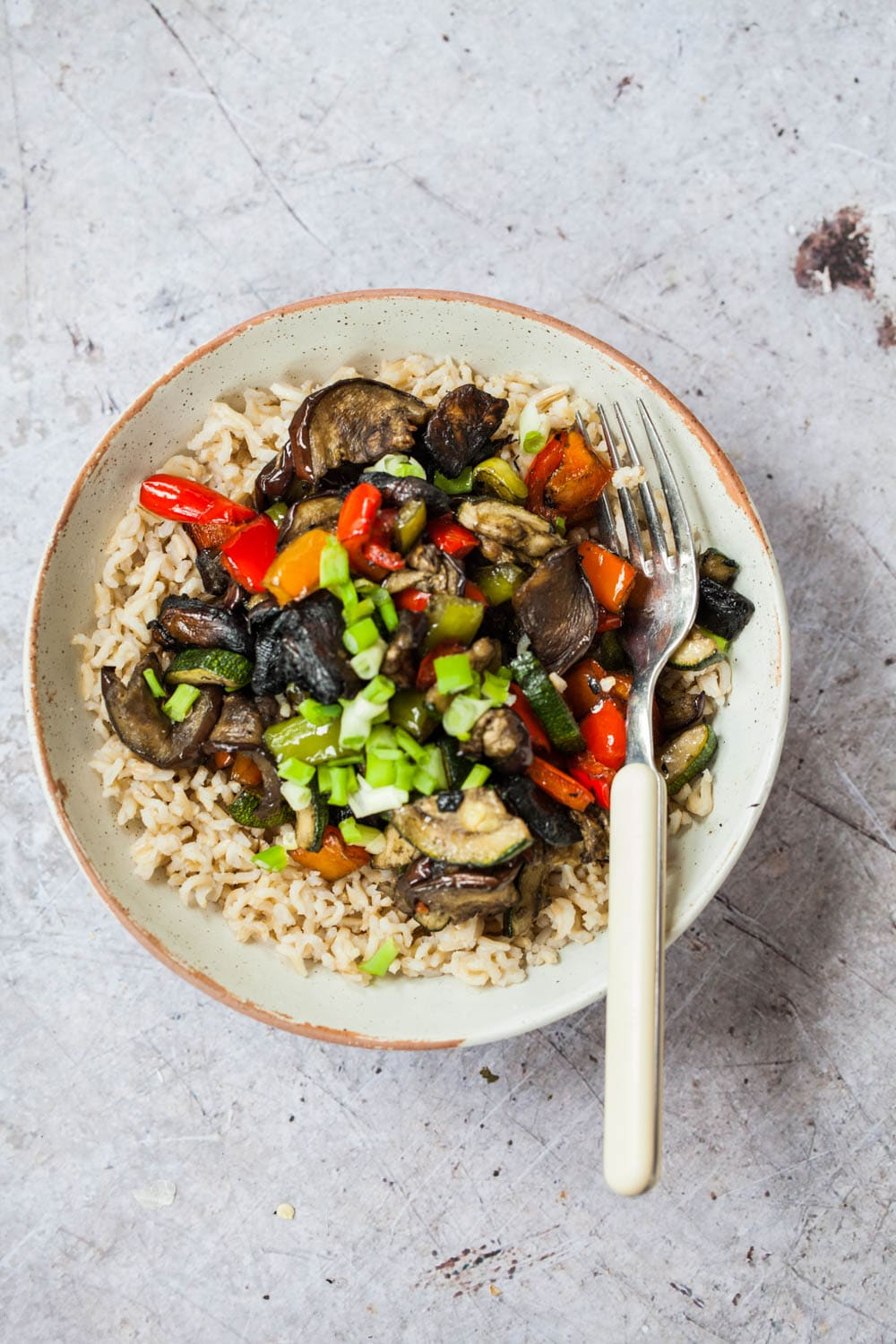 Air Fried Vegetable Stir-fry with Tefal