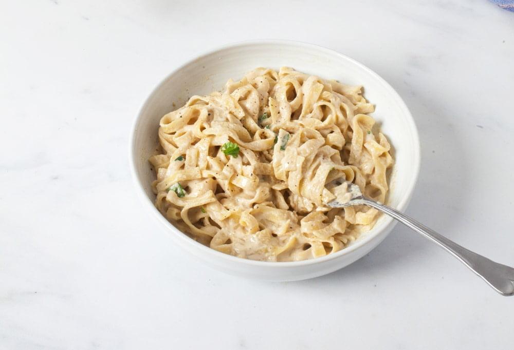 Store-cupboard Vegan Fettuccine Alfredo