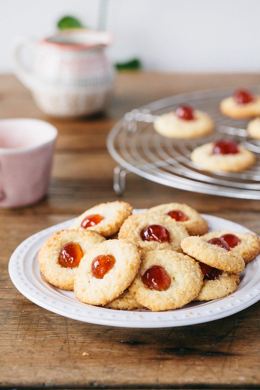 Vegan Coconut Cherry Cookies Recipe