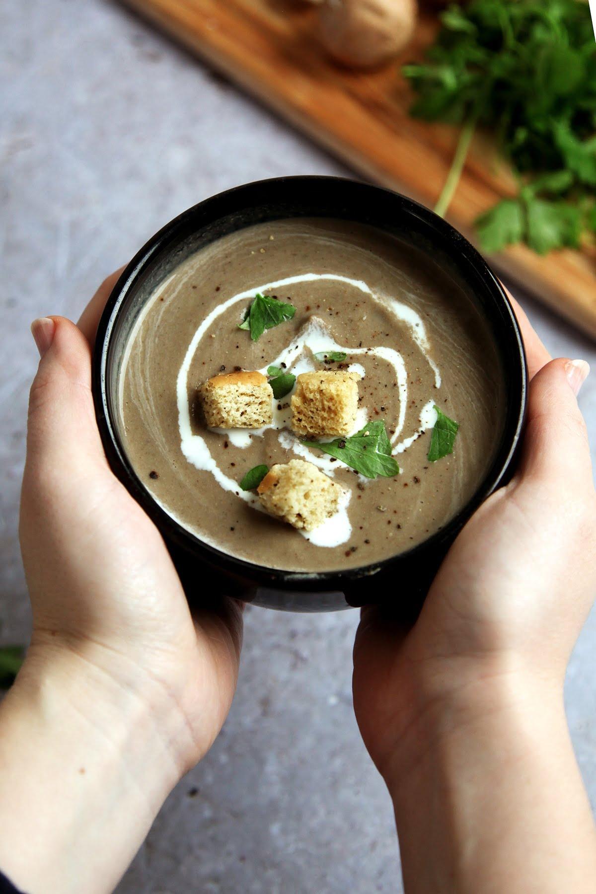 Vegan Mushroom & Chestnut Soup Recipe