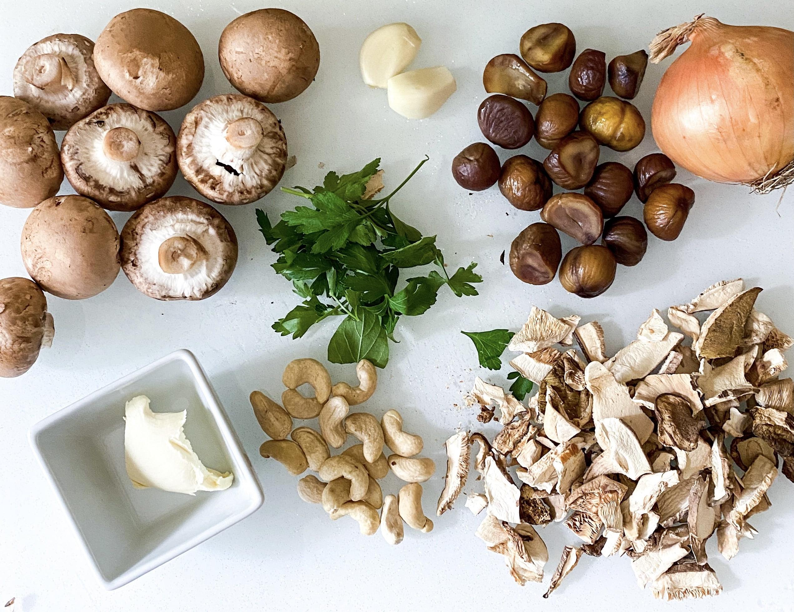 Mushroom and Chestnut Soup (Vegan)